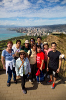 Witnessing Team visit Diamond Head