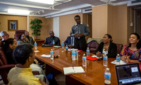 Dennis Salmon at Caribbean Leaders' Meeting at HSA HQ
