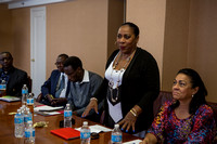Dawn Bacchus-Horan at Caribbean Leaders' Meeting at HSA HQ